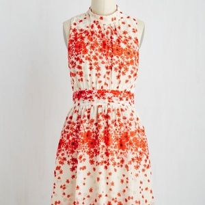 Brand New Windy City Dress in Paprika Bouquet